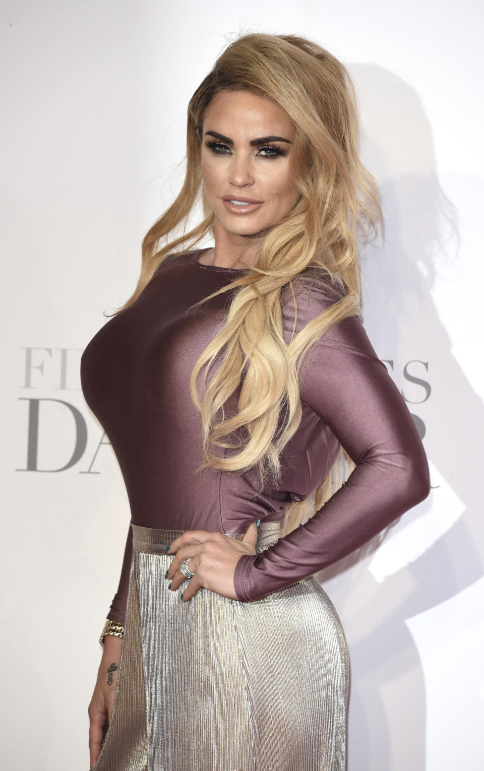 APRIL 21st 2021: Fashion model and media personality Katie Price announces her engagement to be married to boyfriend Carl Woods. - File Photo by: zz/KGC-03/STAR MAX/IPx 2017 2/9/17 Katie Price at the European premiere of