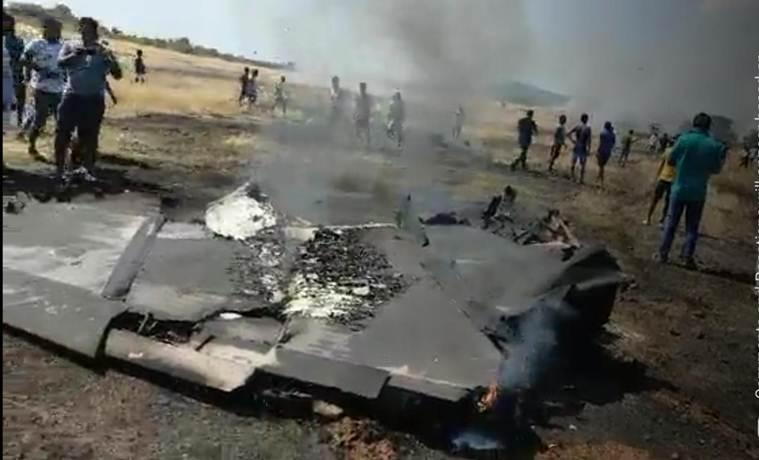 The pilots Capt M Sheokhand and Lt Cdr Deepak Yadav ejected safely