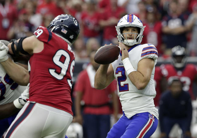 Quarterback Nathan Peterman was a punch line during his time in Buffalo. (AP)