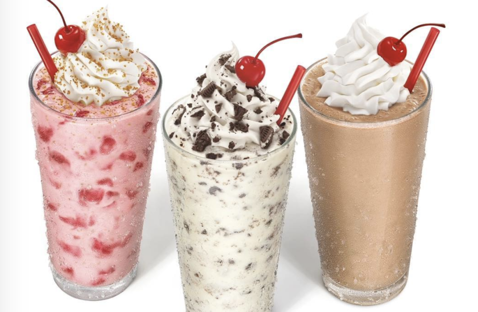 """<p><strong><strong>Official Menu Description: </strong></strong>""""Real Ice Cream mixed with rich peanut butter and Oreos® into a thick and creamy shake, finished with whipped topping and a cherry."""" - <a href=""""https://www.sonicdrivein.com/"""" rel=""""nofollow noopener"""" target=""""_blank"""" data-ylk=""""slk:Sonic Drive-In"""" class=""""link rapid-noclick-resp"""">Sonic Drive-In</a></p><p><br><strong><strong>Verdict:</strong> </strong>The Sonic Drive-In is a prime example of perfectly blended ingredients with just enough top layer crunch that will make anyone happy. 12 different variations of milkshakes exist here and we recommend going with the hand-mixed master shakes. A <a href=""""https://www.tripadvisor.com/ShowUserReviews-g33823-d2195103-r470168930-Sonic_Drive_In-Manchester_Connecticut.html"""" rel=""""nofollow noopener"""" target=""""_blank"""" data-ylk=""""slk:Tripadvisor reviewer"""" class=""""link rapid-noclick-resp"""">Tripadvisor reviewer</a> said """"Stopped here for the first time ever to try the Oreo peanut butter shake. It was yummy! Too thick hard suck using the straw... I had to wait for it to thin out a little bit hence why I gave only 4 stars instead of 5. My husbands shake and daughters shake were thick as well... again great flavor, but take it easy with the thickness. Will definitely come back to try other items on the menu the next time I am in CT. But, reasonably priced! 3 shakes 1 small 2 mediums for 12 bucks. Generous portions too. Their whip cream is delicious."""" </p>"""
