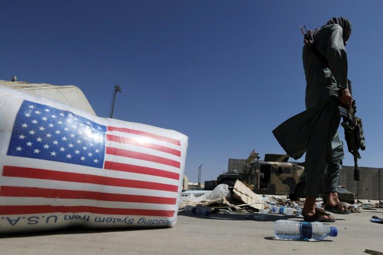 Taliban forces took over the airport in Kabul after the US military pulled out (AFP/Karim SAHIB)