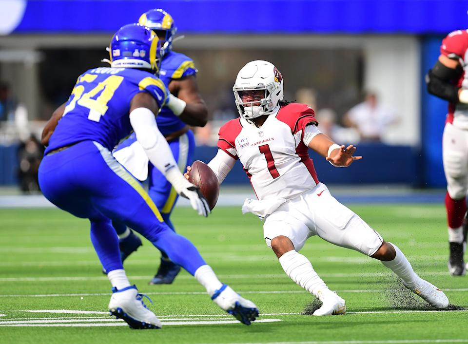 Cardinals quarterback Kyler Murray ranks second behind only Patrick Mahomes in fantasy points scored over the first four weeks of the 2021 season.