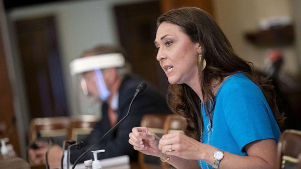 PHOTO: Representative Jaime Herrera Beutler, a Republican from Washington, speaks during a House Appropriations Subcommittee hearing in Washington, June 4, 2020.  (Bloomberg via Getty Images, FILE)