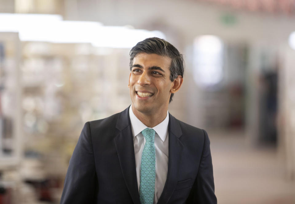 Britain's chancellor Rishi Sunak. Photo: Andrew Fox/Pool Photo via AP