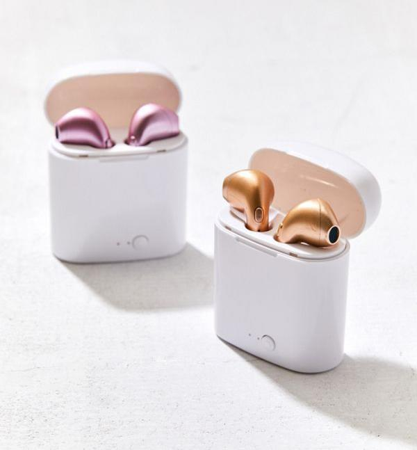 "<p>Wireless earbuds are one of the most-wanted tech items this holiday season. Scoop up a pair of metallic ones for just about anyone on your list — it's a foolproof gift. <br><strong><a href=""https://fave.co/2ACtSuT"" rel=""nofollow noopener"" target=""_blank"" data-ylk=""slk:SHOP IT"" class=""link rapid-noclick-resp"">SHOP IT</a>:</strong> $40, <a href=""https://fave.co/2ACtSuT"" rel=""nofollow noopener"" target=""_blank"" data-ylk=""slk:urbanoutfitters.com"" class=""link rapid-noclick-resp"">urbanoutfitters.com</a> </p>"