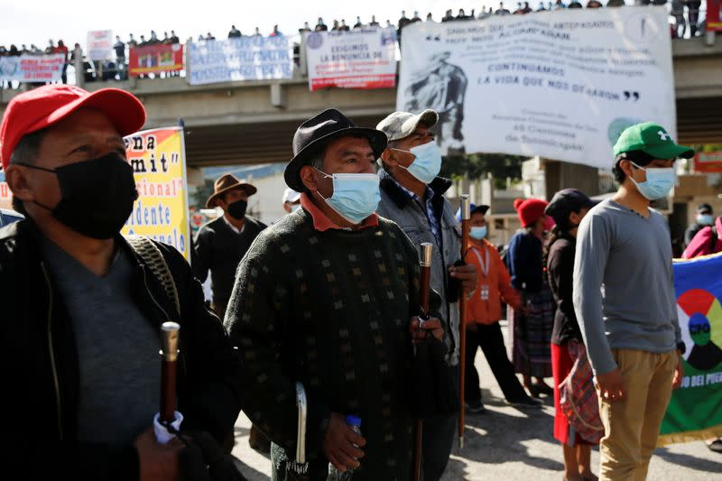 Protest demanding resignation of Guatemalan President Giammattei and Attorney General Porras in San Cristobal Totonicapan