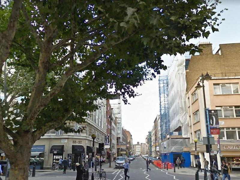 Police were called to reports of an injured man in Hatton Garden, EC1, on Tuesday afternoon: Google