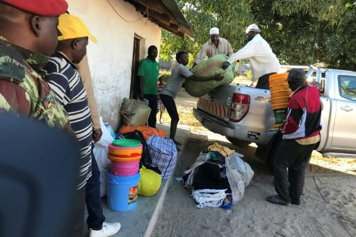 Food, blankets and building materials are being brought to the stricken village -- 164 homes were destroyed and hundreds of people were displaced