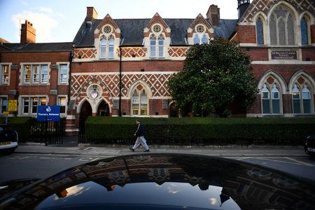 Thomas's Battersea, a private school attended by Prince George, the great-grandson of Queen Elizabeth, is seen in southwest London, Britain, September 13, 2017. REUTERS/Dylan Martinez