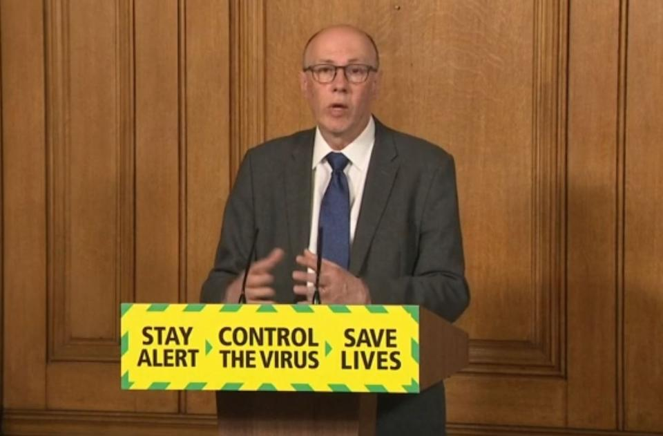 Screen grab of National Medical Director at NHS England, Professor Stephen Powis during a media briefing in Downing Street, London, on coronavirus (COVID-19).
