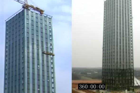 Video: China builds 30-storey hotel in 15 days