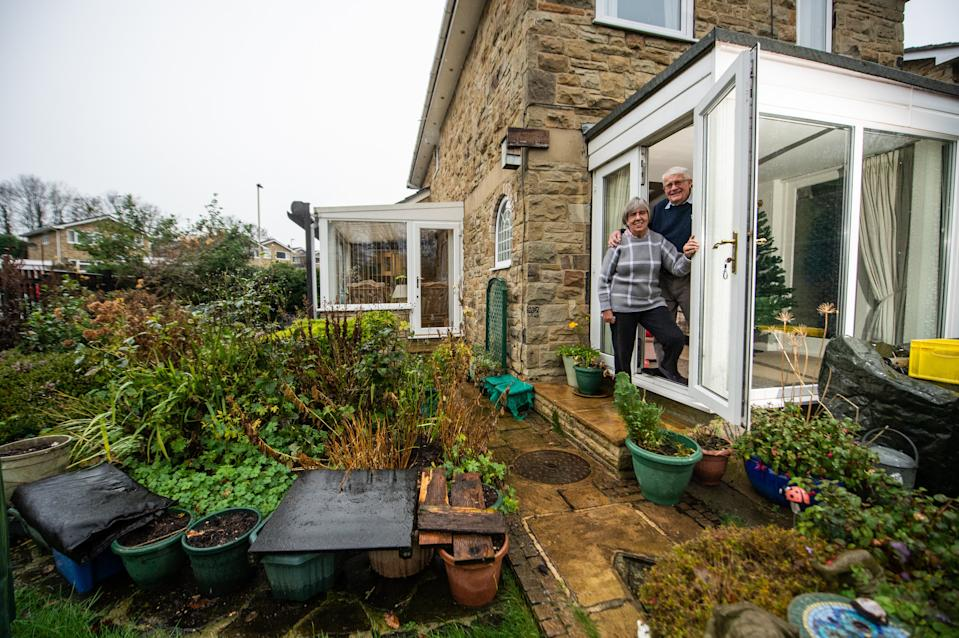 Sheila and Philip Herbert's three-bed detached home is in Tier Two, their back garden and lawn is in Tier Three ()