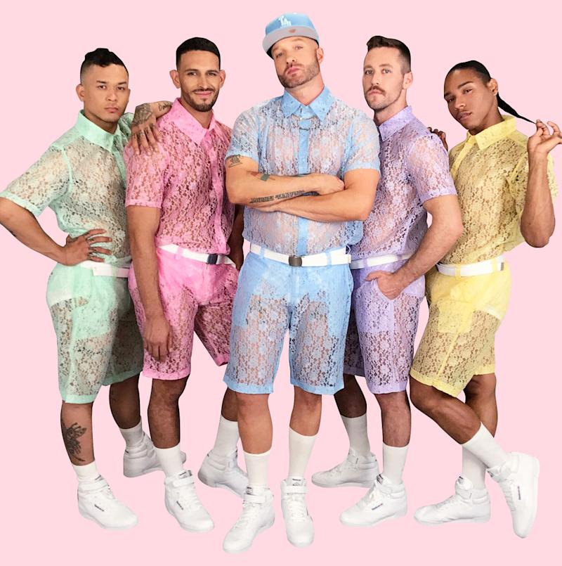 Men's Lace Separates Are the New Male Rompers
