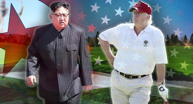 Kim Jong Un of North Korea and President Trump (Photo illustration: Yahoo News; photos: Wong Maye-E/AP, Patrick Semansky/AP, AP, Ian MacNicol/Getty Images)