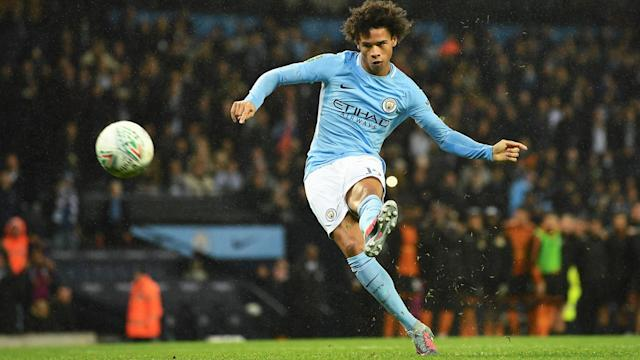 Leroy Sane has returned to training a month ahead of schedule for Manchester City and Pep Guardiola may use the winger against Basel.