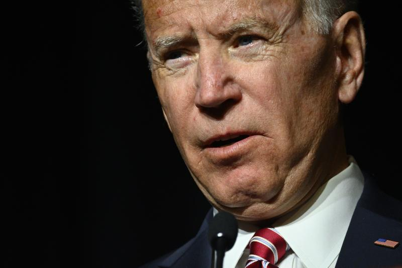 Joe Biden delivers the keynote speech at the First State Democratic Dinner at the Rollins Center in Dover, DE on March 16, 2019. The former U.S. Vice President refrained from announcing his candidacy, even-though early polls conducted in March indicate former Vice President Biden as the favorite of a large Democratic field of candidates. (Photo by Bastiaan Slabbers/NurPhoto via Getty Images)