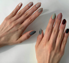 The gradient nail trend is still going strong, but a matte top coat gives it a fresh edge.