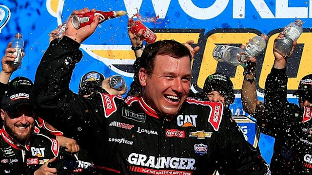 Kyle Busch was set for victory at the Camping World 500, which was eventually won by Ryan Newman.