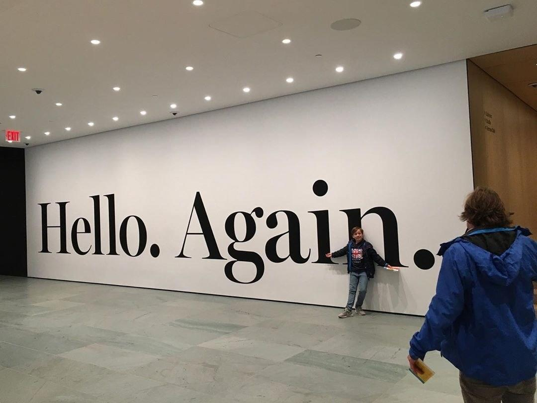 Inside the new MoMA, aka the newly renovated and reopened Museum of Modern Art in New York City.