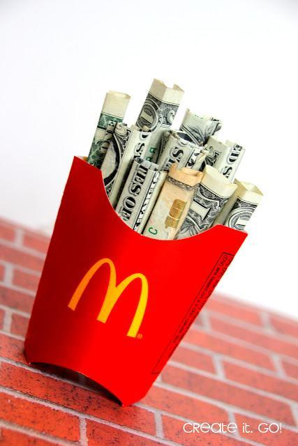 """<p>The value on this dollar menu item just skyrocketed. Careful, though, once you have one, it's hard to stop. <i>(Photo: <a href=""""http://www.createitgo.com/2015/06/creative-way-to-give-money-as-gift-diy.html"""" rel=""""nofollow noopener"""" target=""""_blank"""" data-ylk=""""slk:Create it. Go!"""" class=""""link rapid-noclick-resp"""">Create it. Go!</a>)</i></p>"""