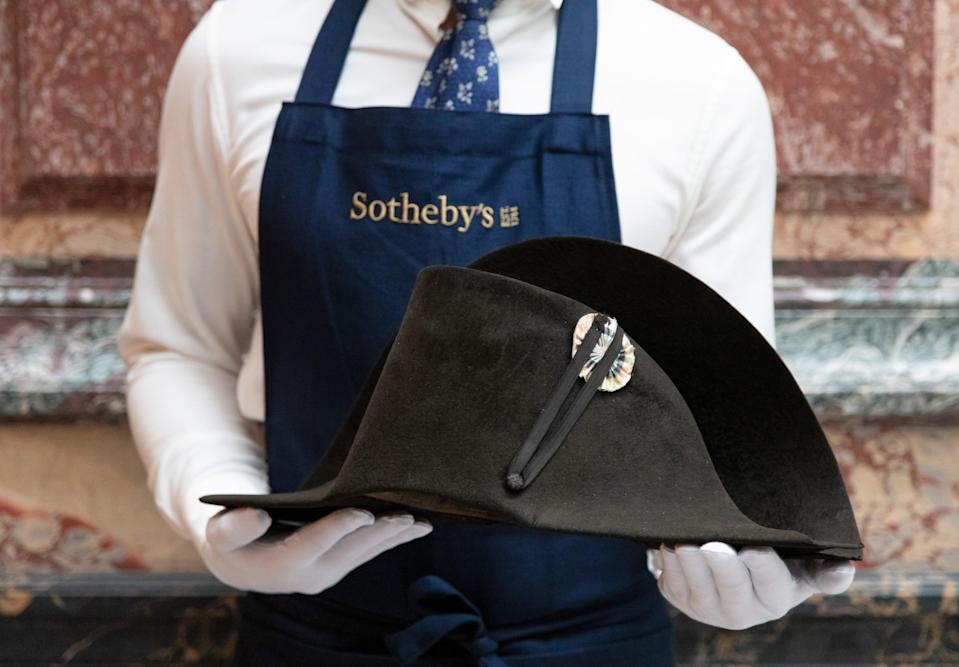 The hat will go on sale in Paris in September (Sothebys)