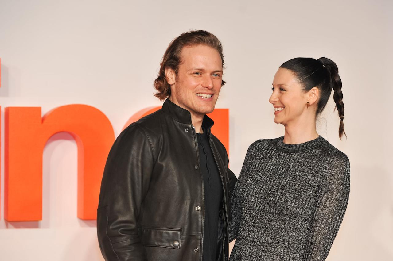 Just a Ton of Sam Heughan and Caitriona Balfe Photos to Hold