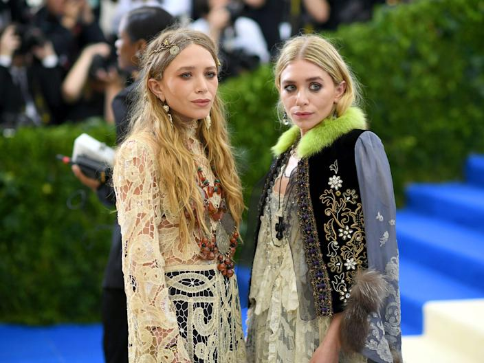 Mary-Kate and Ashley Olsen attend the Met Gala.