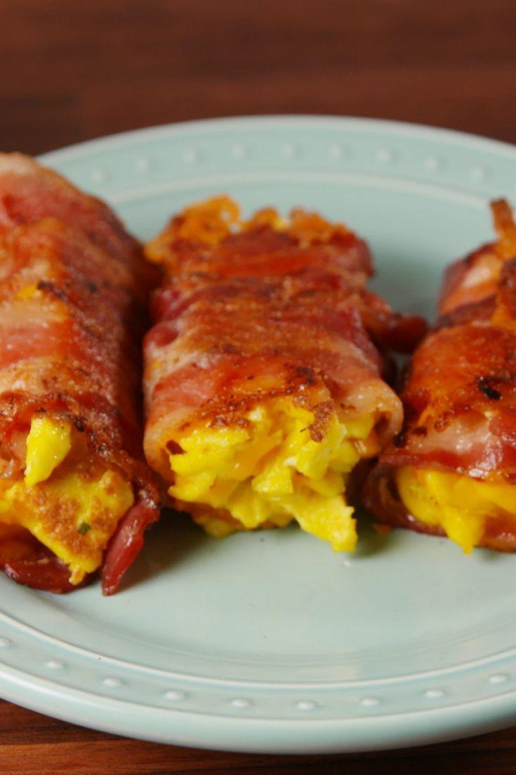 """<p>A new way to do low-carb breakfast.</p><p>Get the <a href=""""https://www.delish.com/uk/cooking/recipes/a29531217/bacon-egg-and-cheese-roll-ups-recipe/"""" rel=""""nofollow noopener"""" target=""""_blank"""" data-ylk=""""slk:Bacon, Egg And Cheese Roll Ups"""" class=""""link rapid-noclick-resp"""">Bacon, Egg And Cheese Roll Ups</a> recipe.</p>"""