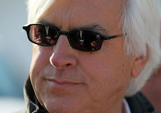 Trainer Bob Baffert, who has saddled five Kentucky Derby winners, says he's heard the first race of the Triple Crown could be postponed amid the coronavirus pandemic (AFP Photo/ANDY LYONS)