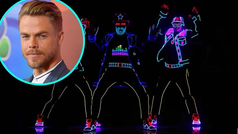 Derek Hough Sneaks Into the 'America's Got Talent' Finale, Dances with Light Balance