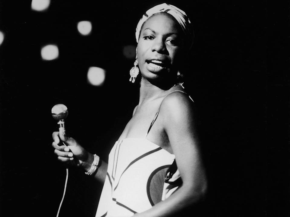 Nina Simone performs in 1964Getty