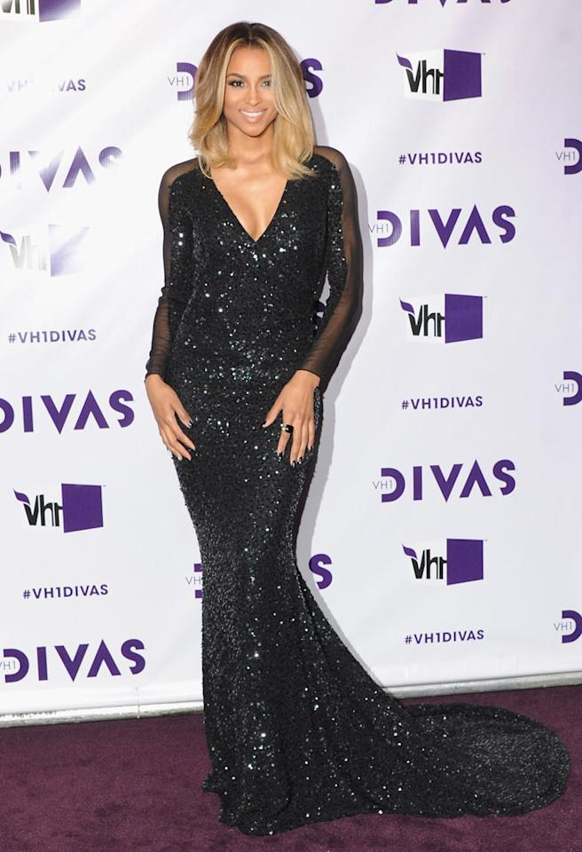 "LOS ANGELES, CA - DECEMBER 16:  Singer Ciara arrives at the ""VH1 Divas"" 2012 at The Shrine Auditorium on December 16, 2012 in Los Angeles, California.  (Photo by Jon Kopaloff/FilmMagic)"