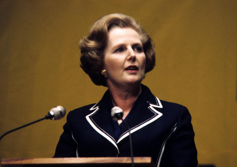 EMBARGOED TO 0001 TUESDAY DECEMBER 30 File photo dated 29/04/1979 of former Prime Minister Margaret Thatcher, as in September 1979, just months after she came to power, Prime Minister Margaret Thatcher suggested that advertising could be introduced to some of the BBC's radio programmes to help raise revenue for the organisation, which was operating at a substantial deficit.