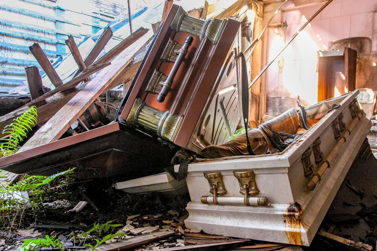 <p></p><p><span>Much like the corpses that were laid to rest, the remains of this building too are slowly decomposing and decaying. </span>(Photo: Caters News) </p><p></p>