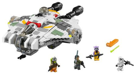 """A """"Star Wars"""" Lego set called """"The Ghost"""" starship is shown in this publicity photo released to Reuters on August 21, 2014. REUTERS/Lego/The Walt Disney Company/Handout via Reuters"""