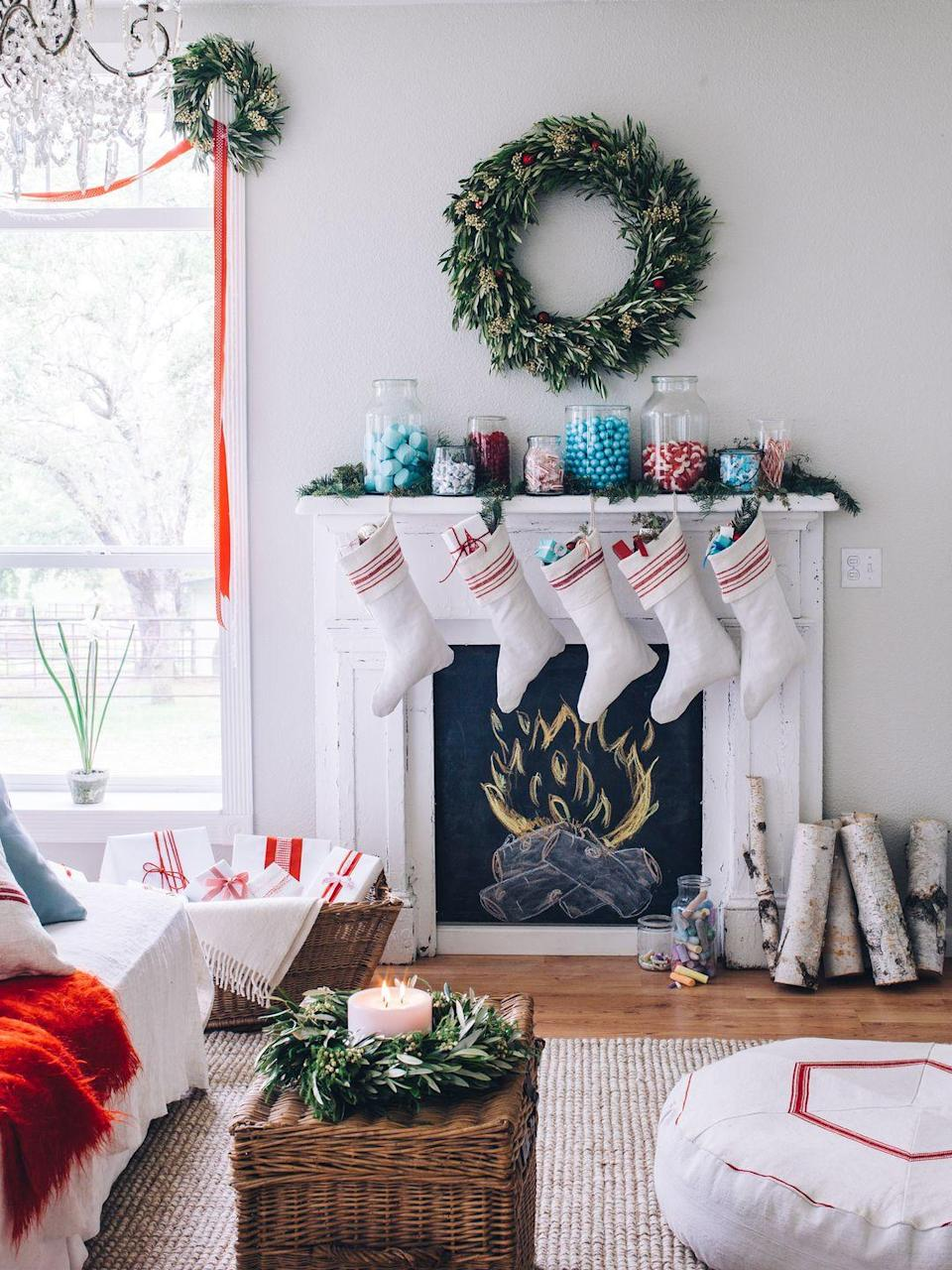 """<p>You're going to need a place for all of those <a href=""""https://www.countryliving.com/shopping/gifts/g2190/stocking-stuffers/"""" rel=""""nofollow noopener"""" target=""""_blank"""" data-ylk=""""slk:stocking stuffers"""" class=""""link rapid-noclick-resp"""">stocking stuffers</a>! If you use your fireplace often, you may want to refrain from leaving your stockings up at the beginning of the season. However, leaving it to the last minute makes for a special Christmas Eve tradition.</p><p><a class=""""link rapid-noclick-resp"""" href=""""https://www.amazon.com/Ivenf-Christmas-Stockings-Snowflake-Decorations/dp/B07D29MQVK/ref=zg_bs_13744821_2?tag=syn-yahoo-20&ascsubtag=%5Bartid%7C10050.g.25411840%5Bsrc%7Cyahoo-us"""" rel=""""nofollow noopener"""" target=""""_blank"""" data-ylk=""""slk:SHOP CHRISTMAS STOCKINGS"""">SHOP CHRISTMAS STOCKINGS</a></p>"""