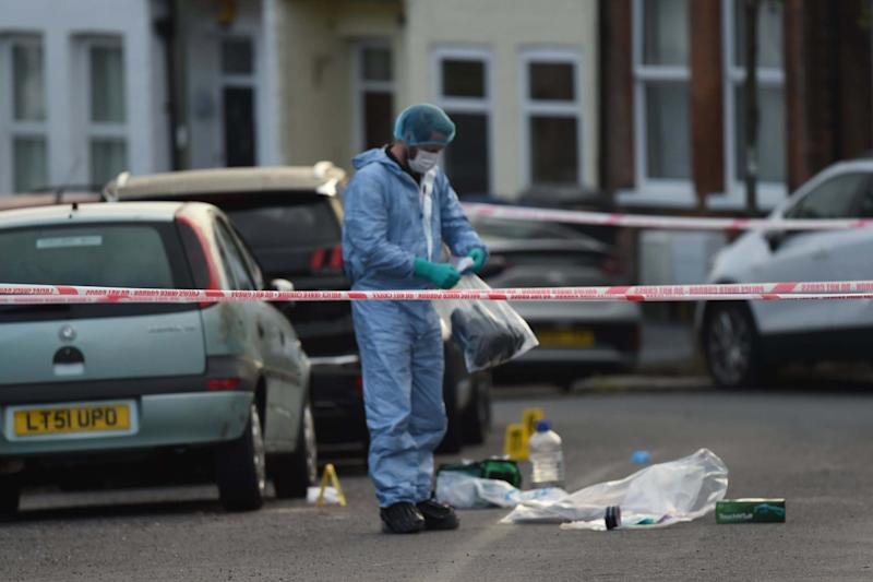 Forensics at the scene of the latest killing in Barnet: Jeremy Selwyn