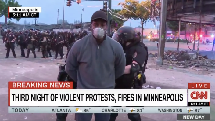 Omar Jimenez arrested live on CNN while covering protests over George Floyd death