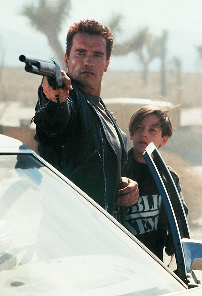 "<a href=""http://movies.yahoo.com/movie/terminator-2-judgment-day/"">TERMINATOR 2: JUDGMENT DAY</a> <br>Directed by: James Cameron<br>Starring: Arnold Schwarzenegger, Linda Hamilton, Robert Patrick"