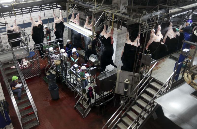 Beef gets processed at the Cargill Beef Processing Plant in Schuyler