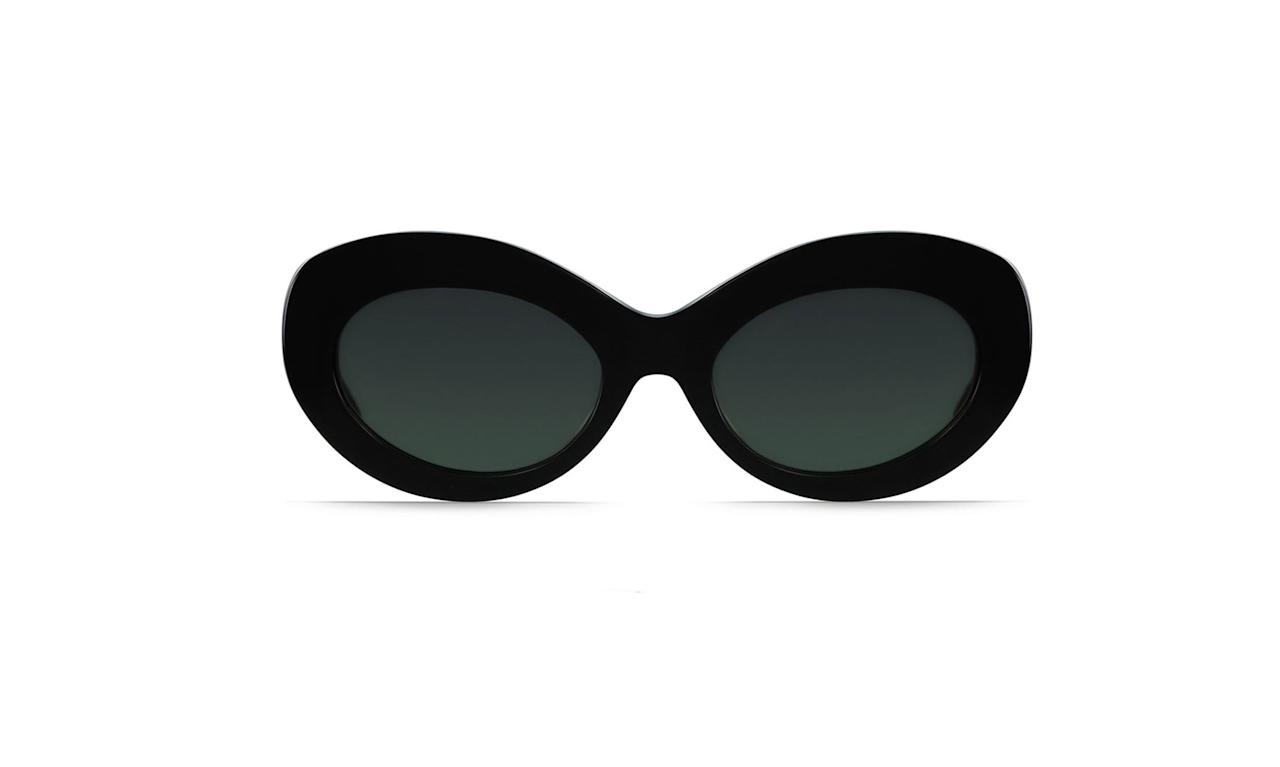 "<p>Ashtrap unisex cat-eye sunglasses, $150,<a rel=""nofollow"" href=""https://raen.com/shop/unisex/ashtray-cat-eye-sunglasses/black-green/""> raen.com</a> </p>"