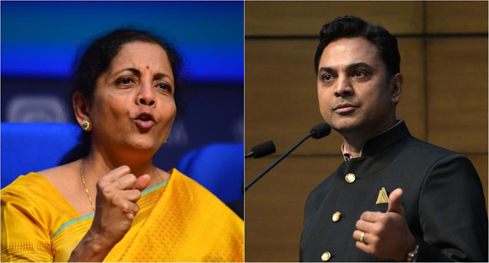 Union Finance Minister Nirmala Sitharaman and Chief Economic Advisor Krishnamurthy Subramanian. Photos: Getty Images