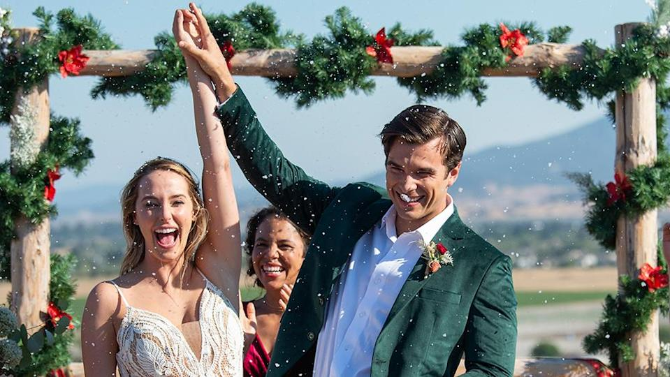 """Callie and Joseph in love in the sequel to """"A California Christmas."""""""