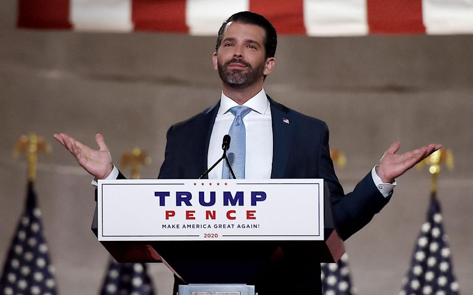 Donald Trump Jnr was cleared in the Mueller report due to his lack of knowledge of the illegality of his conduct - OLIVIER DOULIERY/AFP