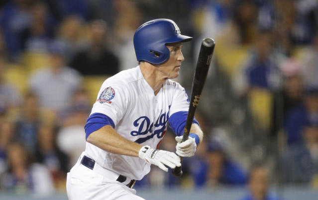 The Dodgers fell to 4-8 this season despite Chase Utley's most fortunate two-run single. (AP)