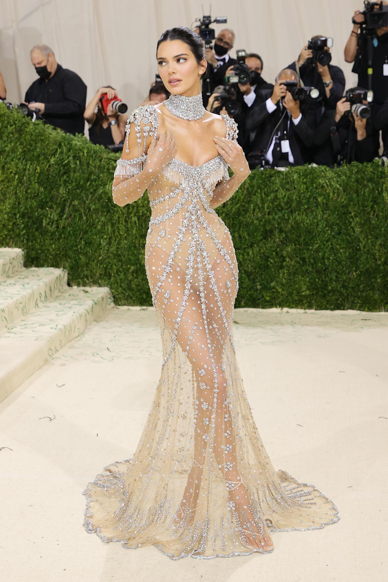 Kendall Jenner attends The 2021 Met Gala Celebrating In America: A Lexicon Of Fashion at Metropolitan Museum of Art on September 13, 2021 in New York City. (Getty Images)