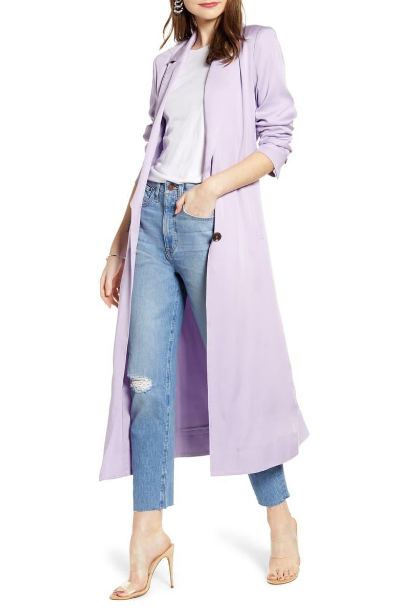 Elongated Collar Trench Coat $95.