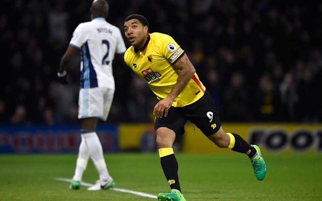 <span>Troy Deeney reached 100 goals for Watford here</span> <span>Credit: reuters </span>