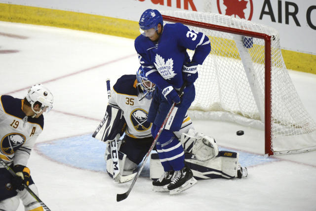 """Since the start of last season, Leivo has notched 2.03 primary points per 60, which ranks only behind <a class=""""link rapid-noclick-resp"""" href=""""/nhl/players/7109/"""" data-ylk=""""slk:Auston Matthews"""">Auston Matthews</a> for tops among Maple Leafs skaters. (Jon Blacker/The Canadian Press via AP)"""