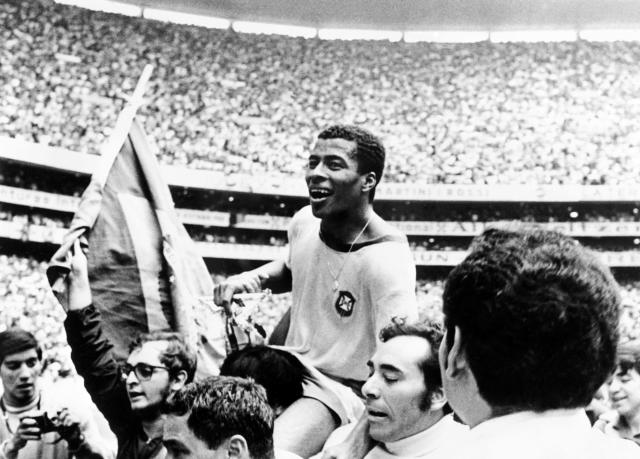 Jairzinho, o Furacão da Copa. Foto: STAFF/AFP via Getty Images